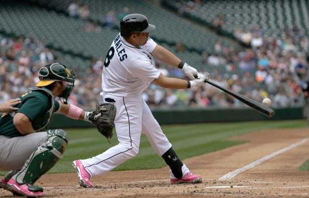 Kendrys Morales' three run homer helped beat the Oakland A's yesterday, 6-3