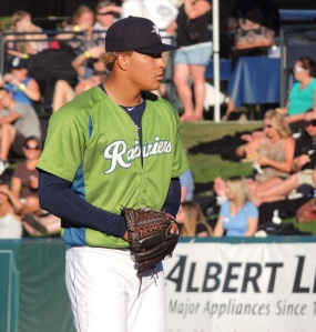 Taijuan Walker looks like a pitcher.  Tall and lean, he has dominating stuff when he can command it.