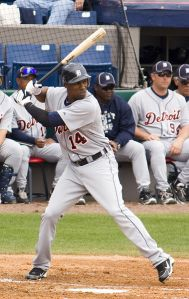New centerfielder Austin Jackson fills a an important positional and organizational hole for the team.  Wikipedia Commons