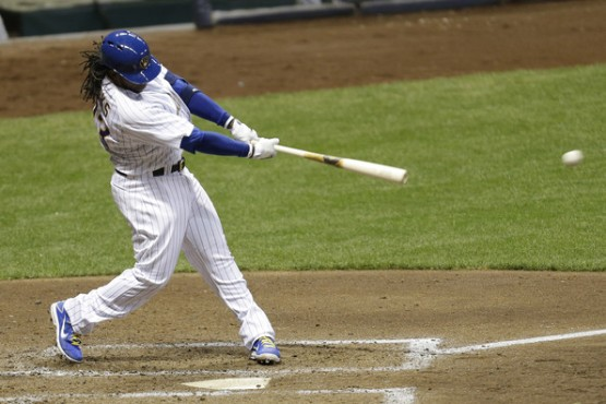 Ricky Weeks may have been a second baseman with the Brewers.  But be prepared to think of him this way--right-handed bat.